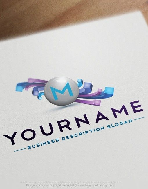 3d online alphabet logo free business card pinterest free 3d logos online for salebuy 3d logos online ready made logo design with three dimensional abstract lines ball and alphabet icon reheart Image collections