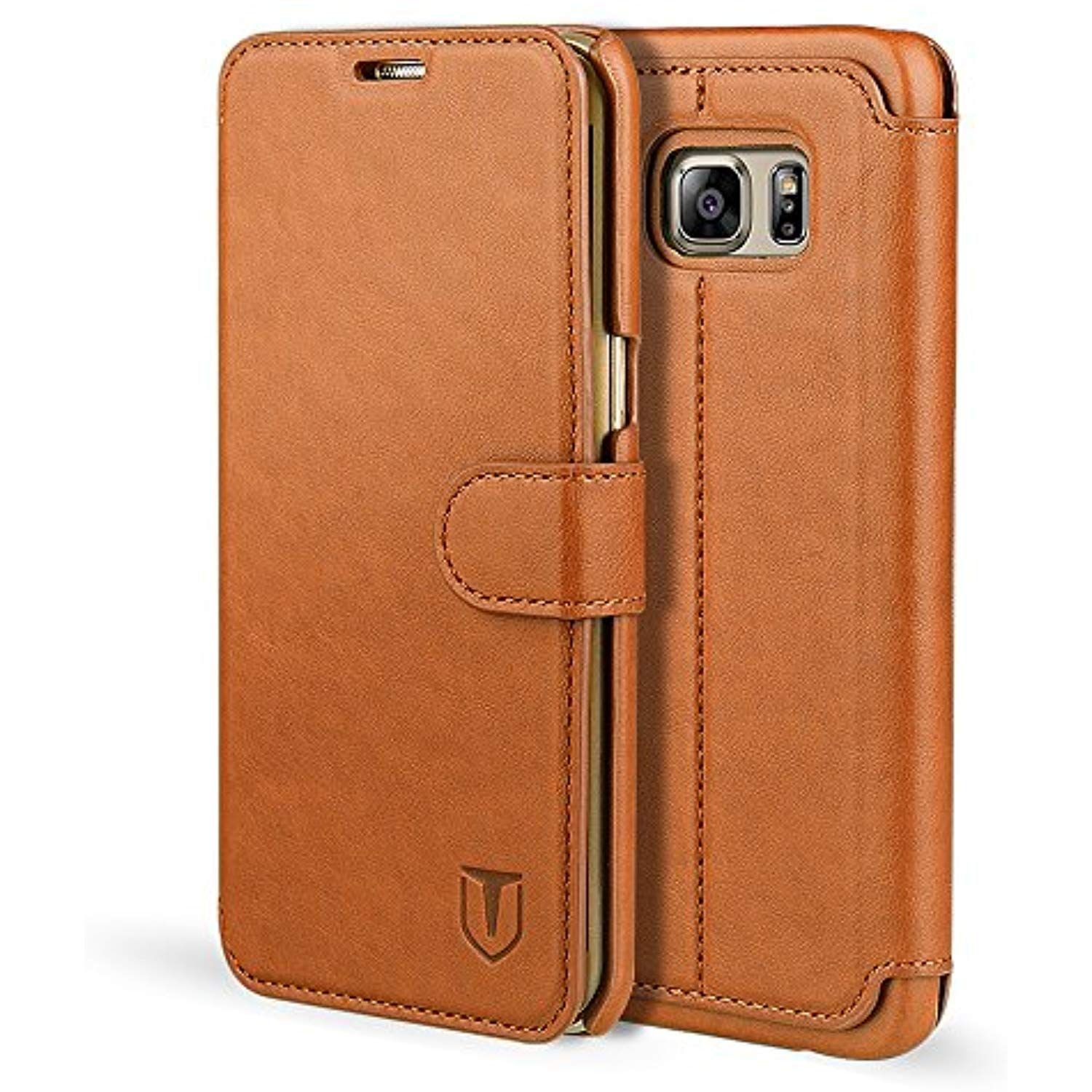 separation shoes 3f48e 153c0 Galaxy S6 Edge Case, TANNC Flip Leather Wallet Phone Case [Layered ...