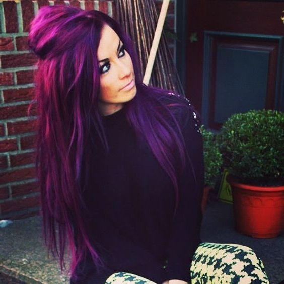 40 Stunning Purple Hair Color Ideas In 2019 Street Style Inspiration Funky Hair Colors Hair Color Purple Hair Styles