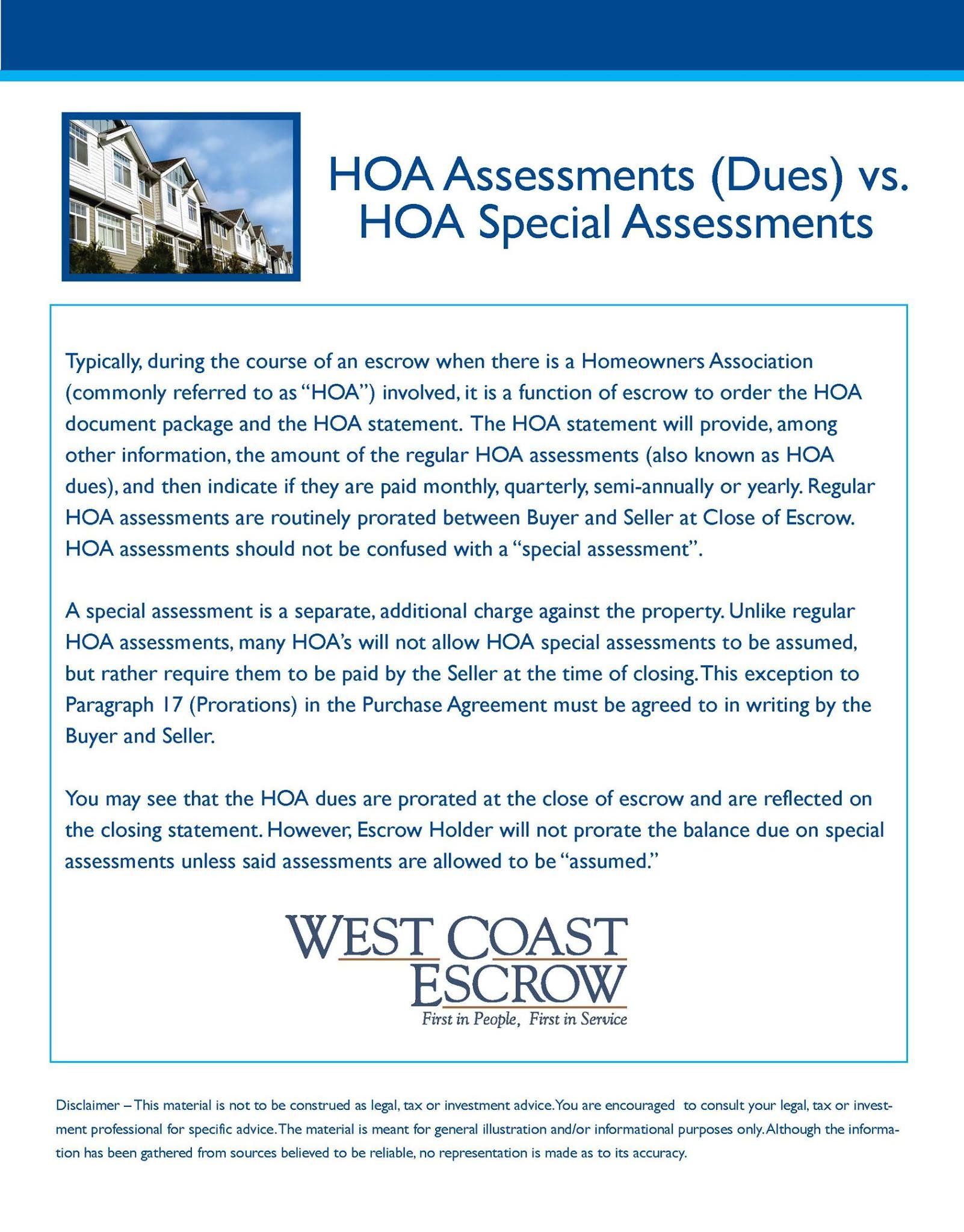 Hoa Assessments Dues Vs Hoa Special Assessments Www