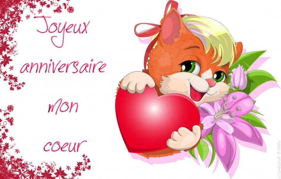 Joyeux Anniversaire Mon Coeur Bleurose Joyeux Anniversaire Mon