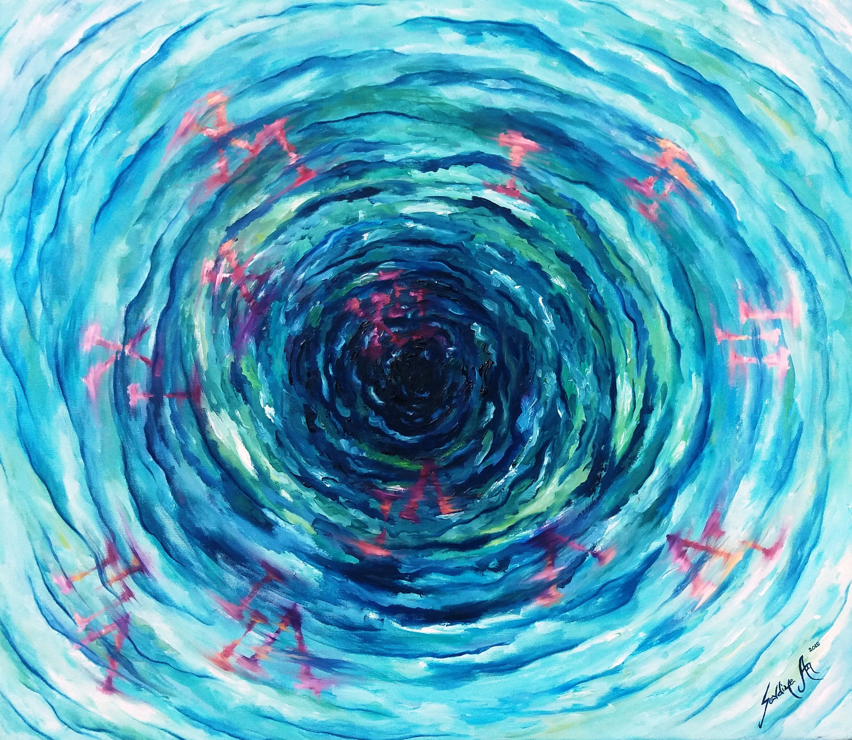 Zaman Girdabi Time Vortex By Sevdiye Ay Tuval Uzerine Yagliboya Oiloncanvas 70cm X 80cm Gallerymak Sanat Resim Tablo I Resim Tablolar Cagdas Sanat