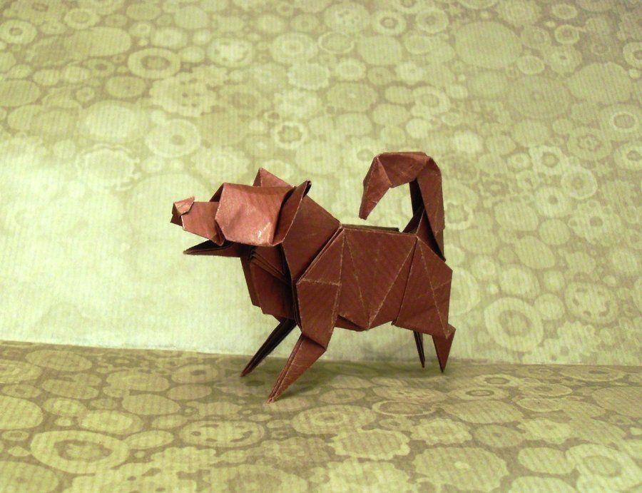 origami puppy dog by orestigami origami pinterest