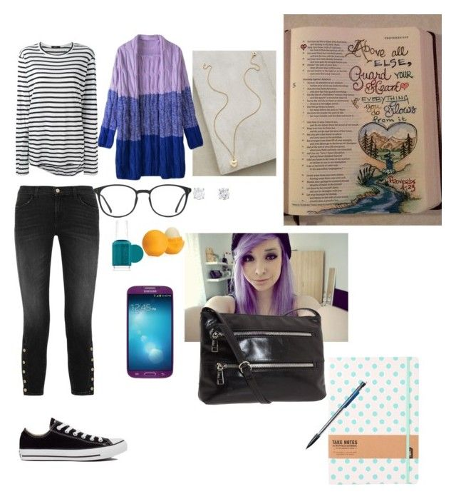 Untitled #81 by vhinvest on Polyvore featuring polyvore, fashion, style, Bassike, J Brand, Les Néréides, Eos, INDIE HAIR, Converse, GlassesUSA, Essie, HOBO and Samsung