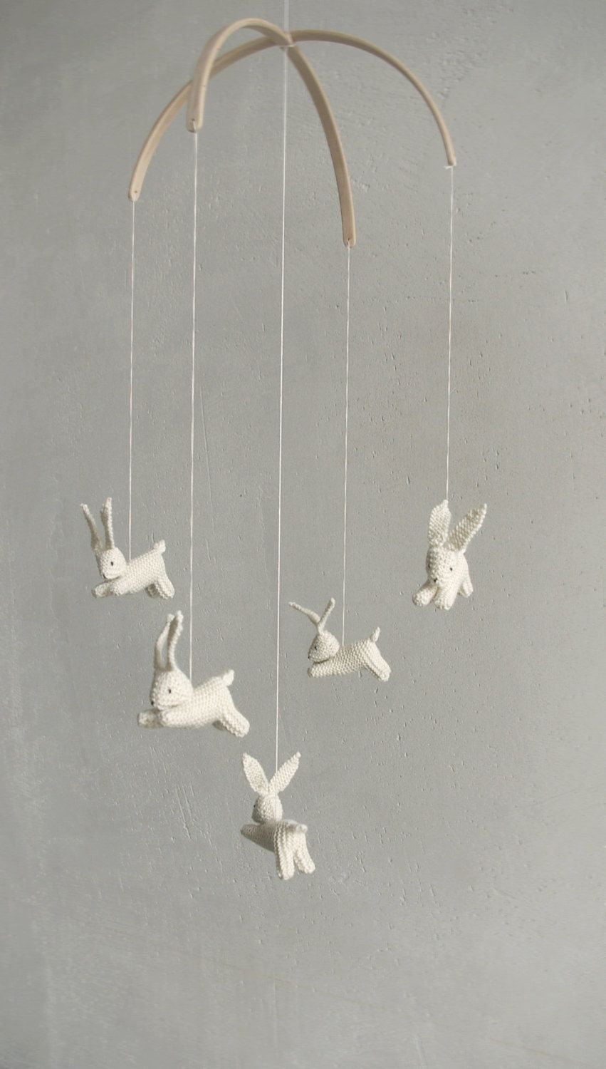 Baby mobile / bunny mobile / rabbit mobile / jumping hare ...