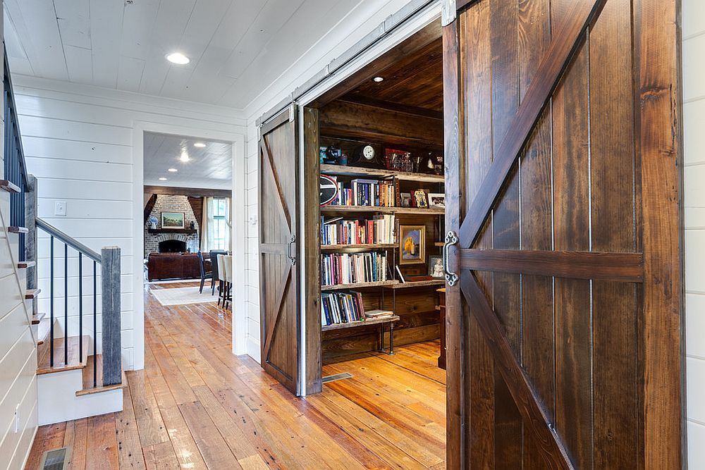 Barn doors make it easier to find space for the home office! [Design Blake Shaw Homes] & Space-Savers at Work: 20 Home Offices with Sliding Barn Doors | Barn ...