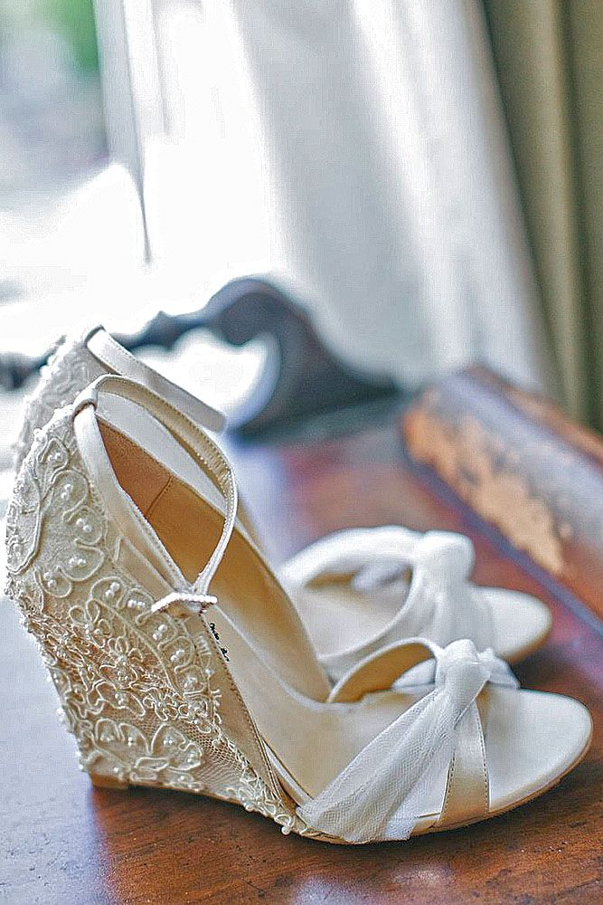 30 Wedge Wedding Shoes To Walk On Cloud | Wedding shoes, Wedge ...