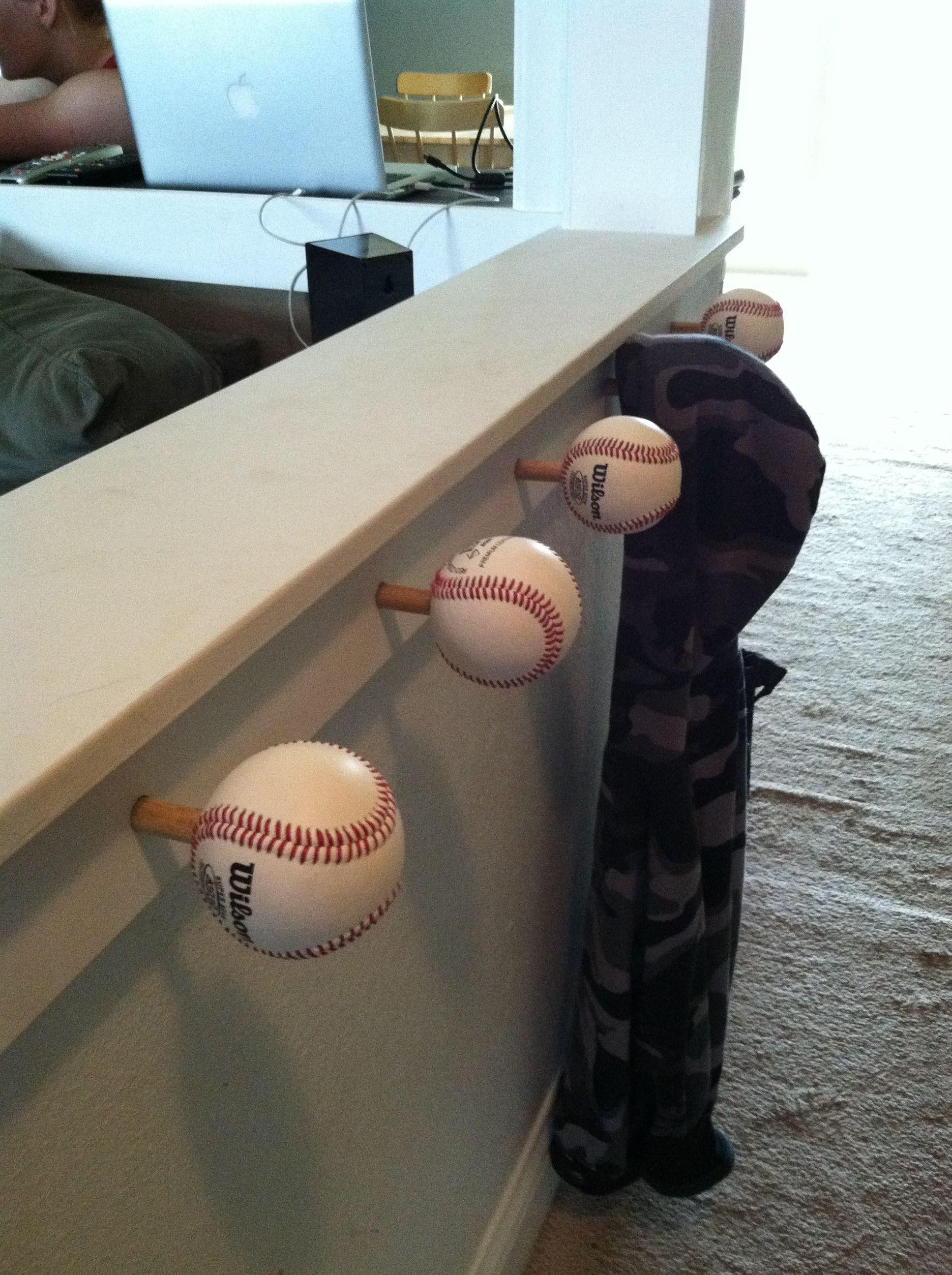 Kids baseball coat racktonya look at this for the boysu room