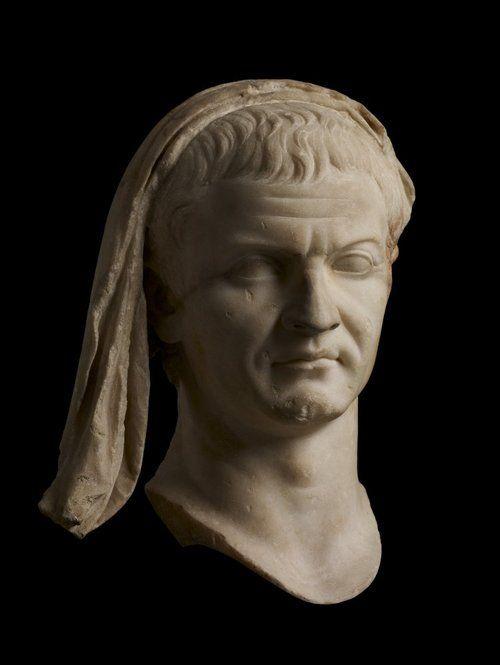 Marble portrait head of Marcus Agrippa    Roman    Found at Capri, Italy    c.20-40 BC