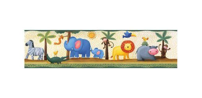 jungle animals wallpaper border Google zoeken Borders