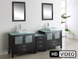 90 Virtu Brentford Md 4490 Es Bathroom Vanity Vanities