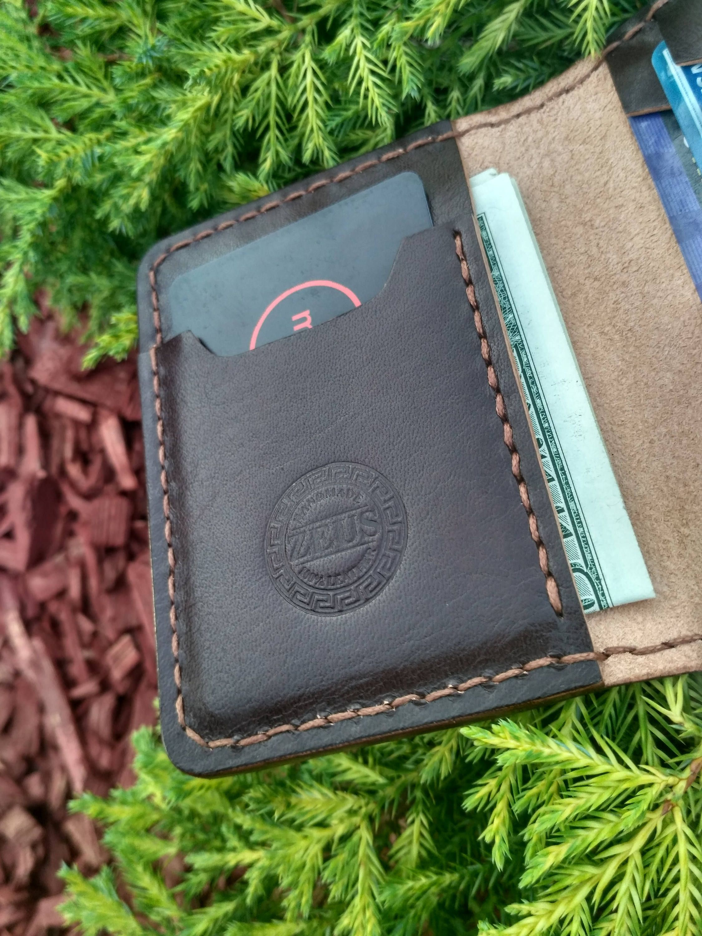 Fathers day gift card case leather wallet credit card