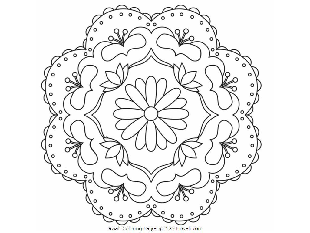 Diwali Coloring Pages Rangoli Colours Rangoli Designs Coloring