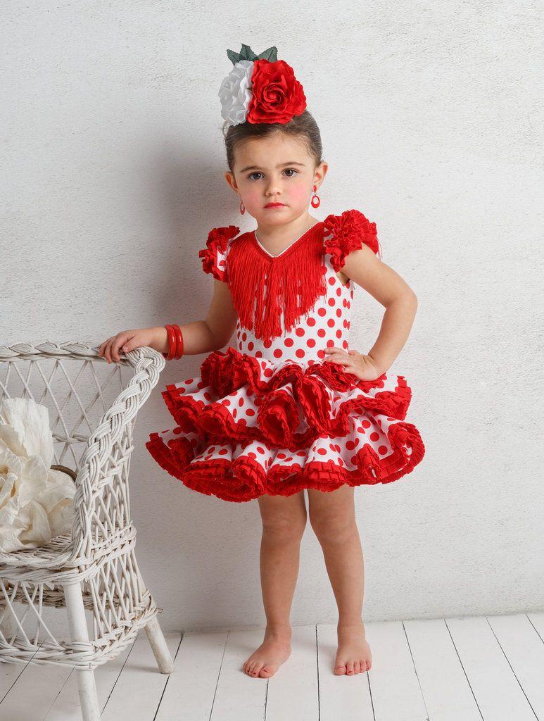 91a0986b4a Traje de gitana flamenca para niña. Posibilidad de añadir o quitar flecos a  juego por el mismo precio.