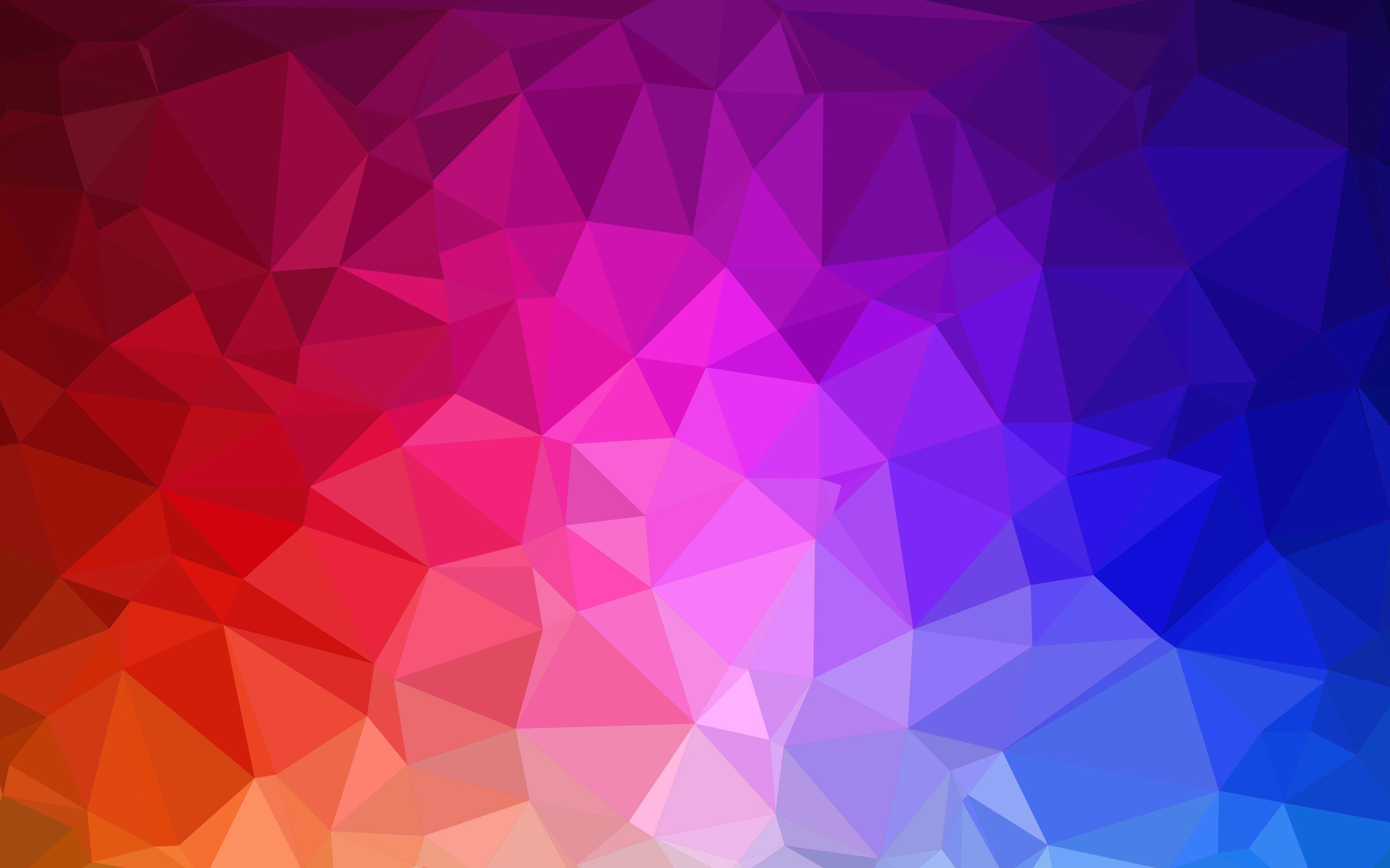 Geometric Colorful Pattern Wallpaper Wide or HD Vector