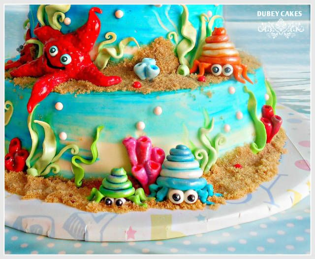 Awesome Hermit Crab Tutorial With Images Crab Birthday Cakes Cake Funny Birthday Cards Online Necthendildamsfinfo