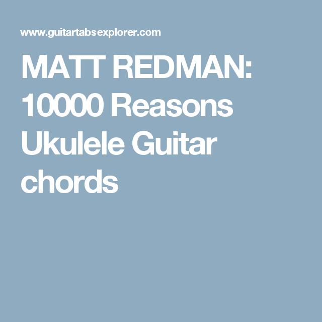 Matt Redman 10000 Reasons Ukulele Guitar Chords My Ukulele