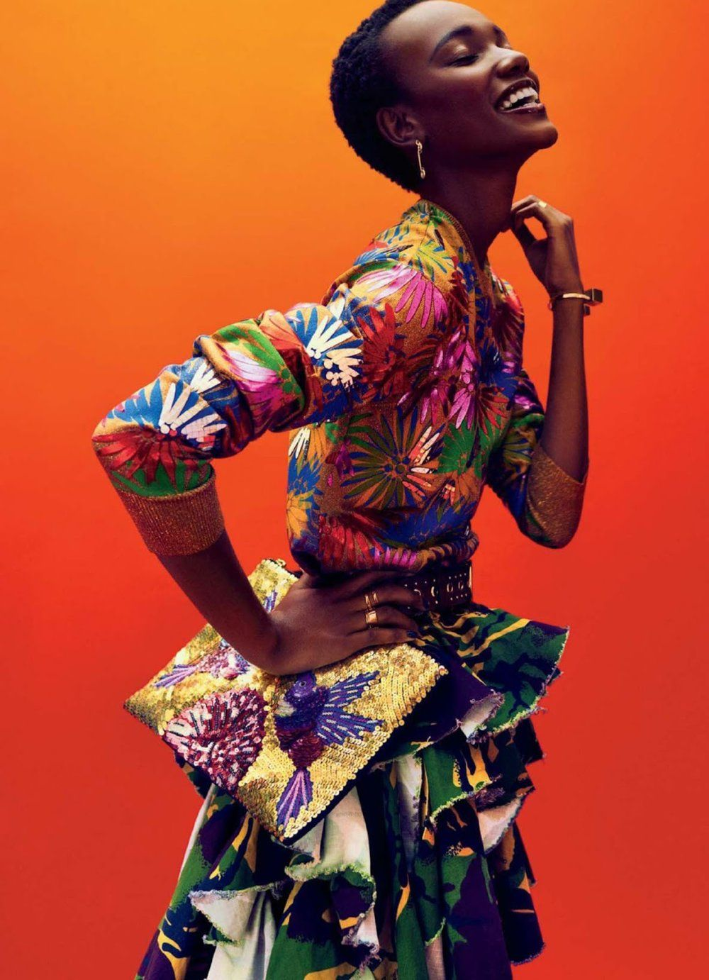 Herieth Paul Is Vivid In Billy Kidd Images For Glamour USA December 2016 2
