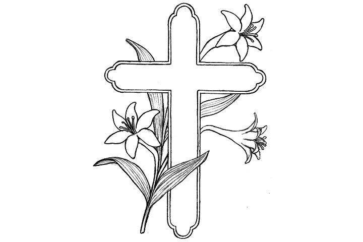 cross coloring pagesjpg 720480 crafts pinterest easter