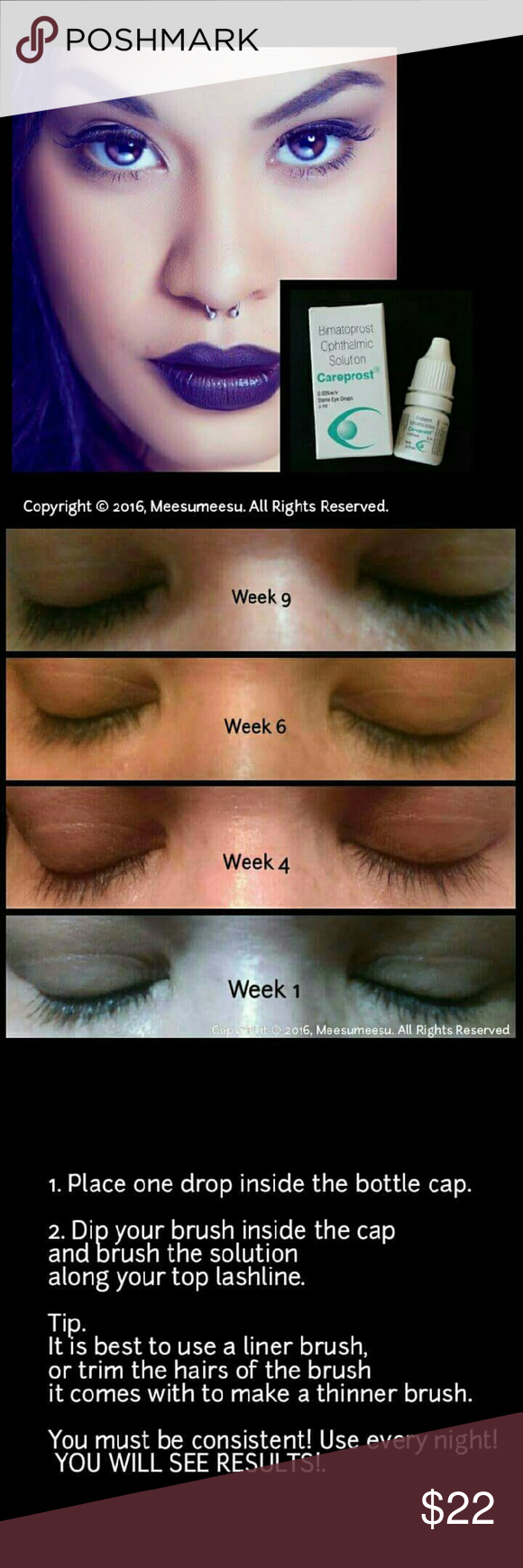 Careprost 1 Pack Careprost Eyelash Growth Solution Grow Your Lashes