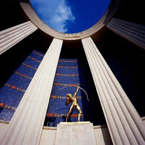 11x14 in.Dallas, Fair Park Hall of State Entrance, Archival Pigment, Carolyn Brown ($500)