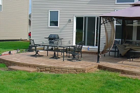 Biondo Cement Patios Gallery 42 Terra Cotta Color Stamped