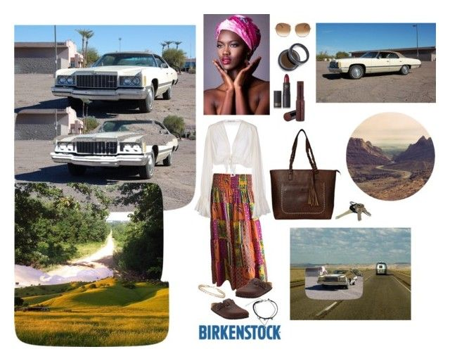 """""""Boho Nubian Princess Driven to Exile❤️👸🏾👣💄💋🌸👜🛣❤️"""" by chrisiggy on Polyvore featuring Ralph Lauren, Mes Demoiselles..., Birkenstock, Caprice, Avon, Chloé, Fashion Fair, Lipstick Queen and Dorothy Perkins"""