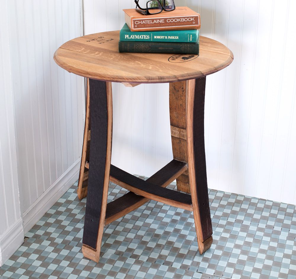 Barrel Head & Stave End Table
