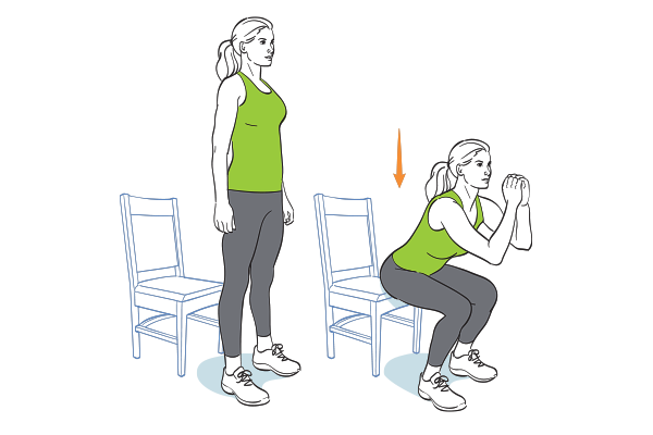12 Ways To Work Out When The Only Prop You Ve Got Is A Chair Chair Exercises Total Body Workout Challenge Exercise