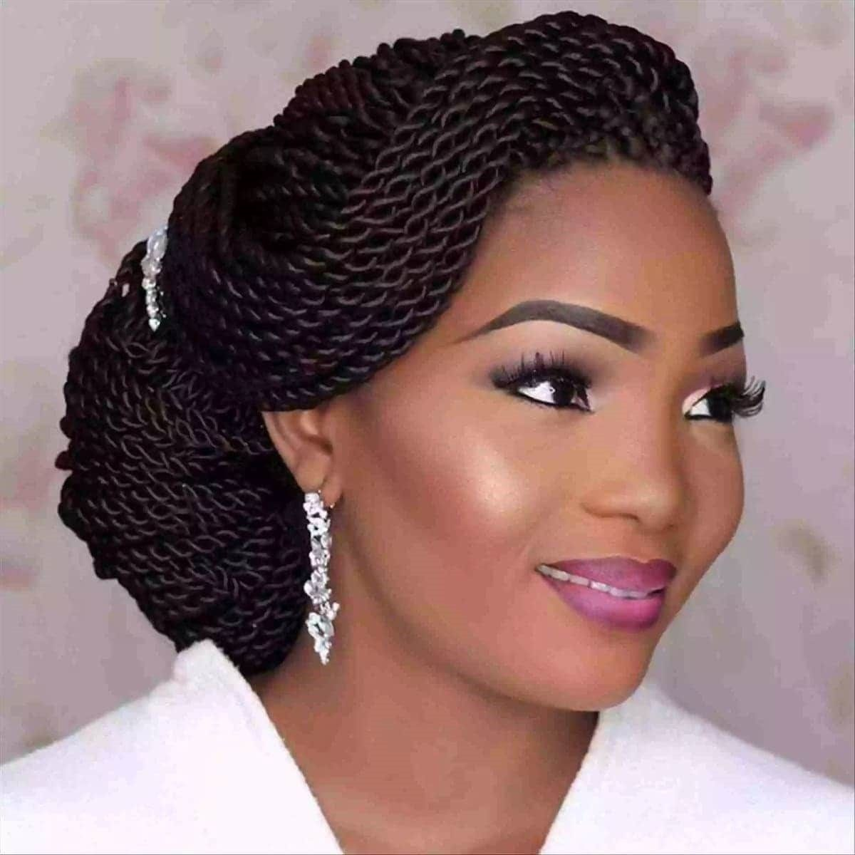 Ghanaian Wedding Hairstyles 2018 Latest Bridal Hairstyles In Ghana Today Newspaper Natural Hair Styles Hair Styles Bridal Hairstyles With Braids
