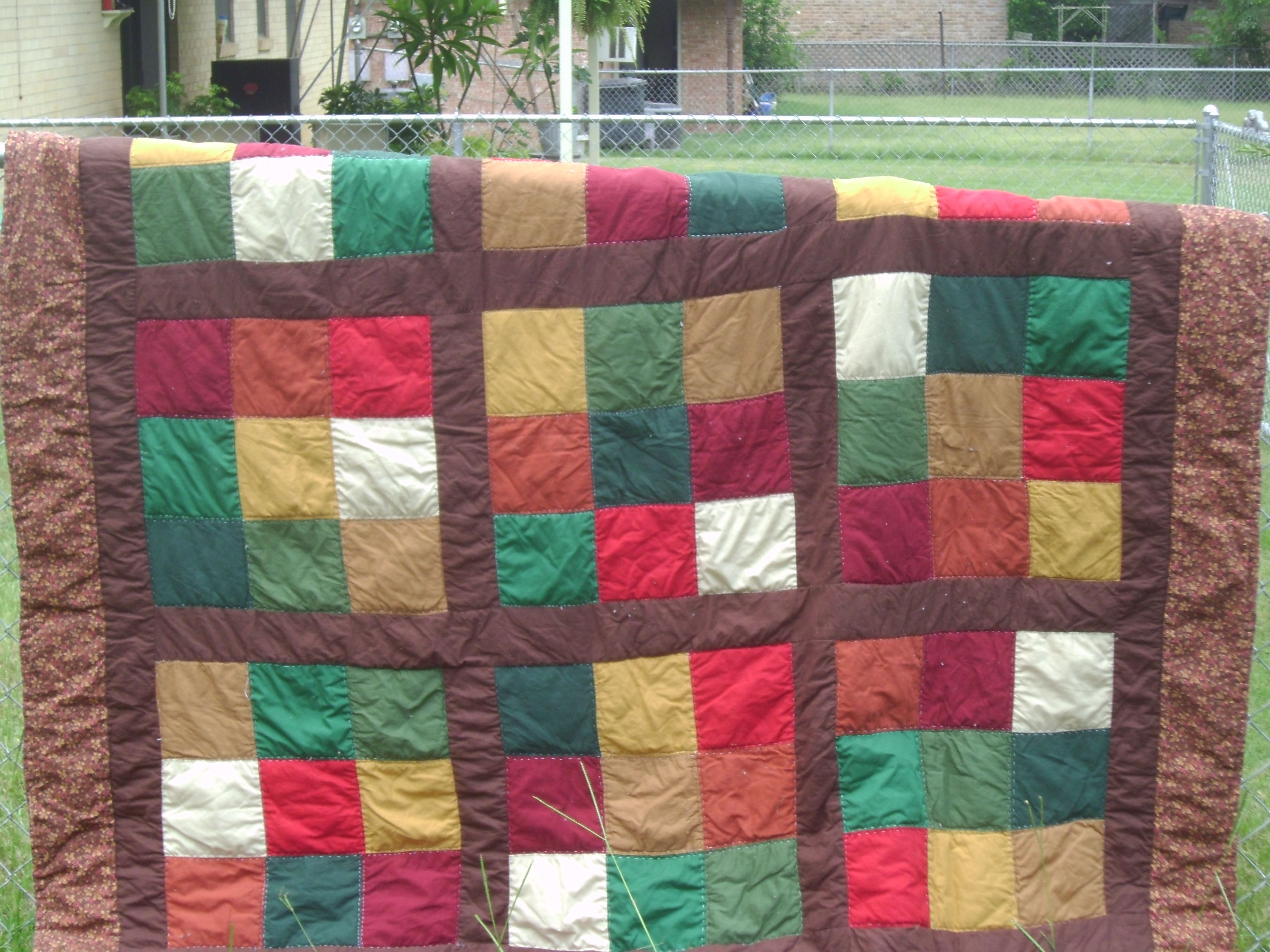 This is the Diagonal 9 quilt. Based on the puzzle Sudoko. Each big block has 9 little blocks that do not repeat in either rows going up , across or diagonal. Very easy for a beginner to follow