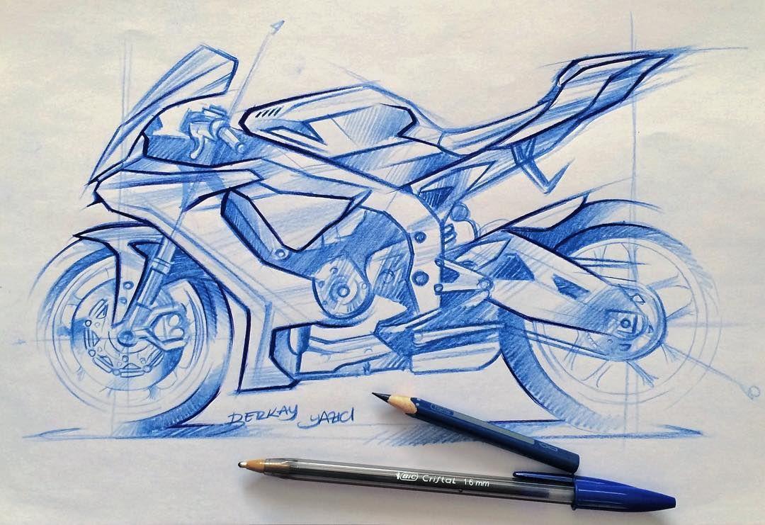 Kalemi Bir Cizimle Harcamak Yamaha R1 Racing Bike