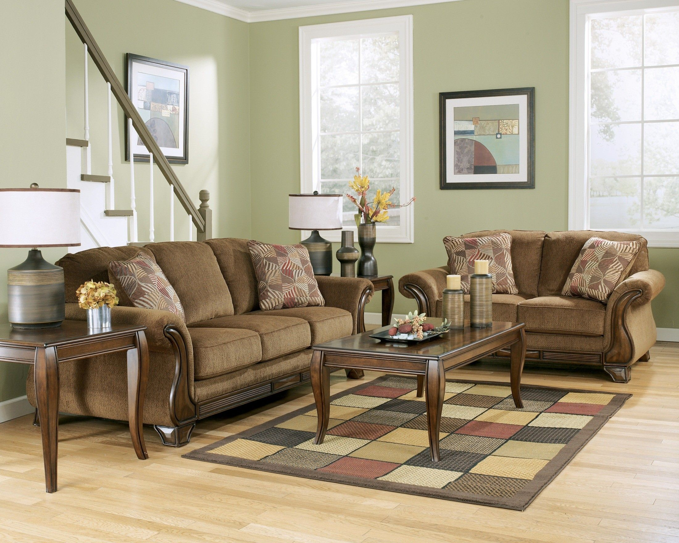 Montgomery Mocha Living Room Set Ashley Furniture