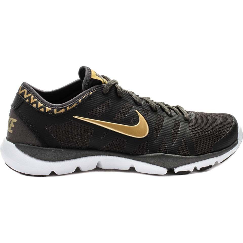 Nike 683138-201 Flex Supreme TR 3 Womens Training Shoes (Black/Gold)