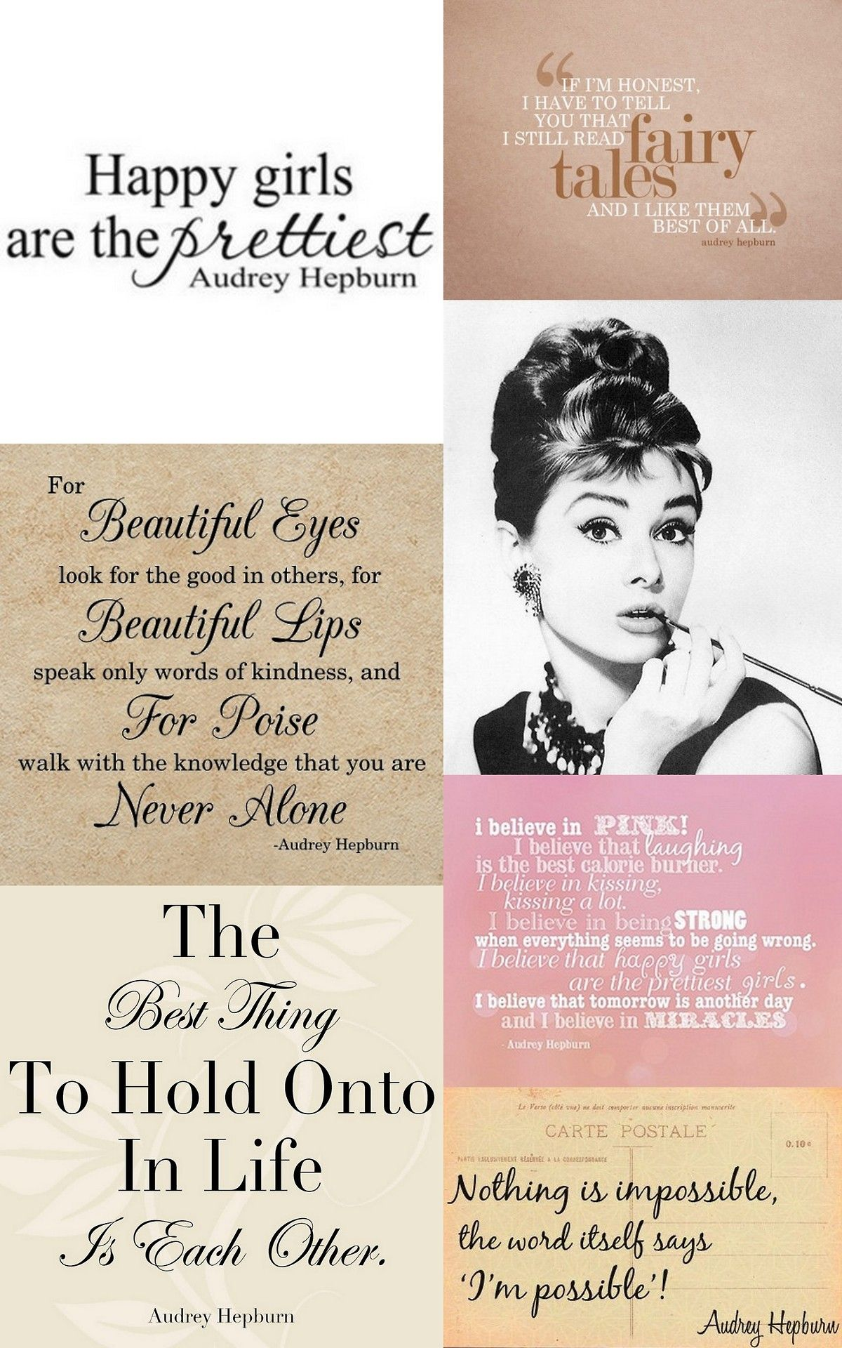 Audrey Hepburn Quotes Tumblr Favorite Quotes Pinterest