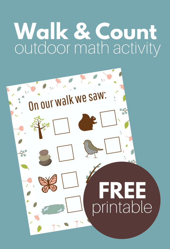 Nature Walk & Count - Gross Motor Math Activity ( and free printable ...