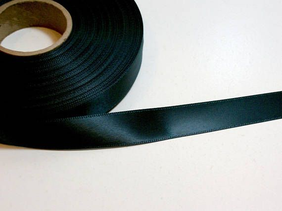 Dark Green Ribbon Satin 5 8 Inch Wide X 10