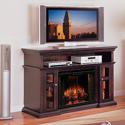Brown Electric Fireplace Home Theater Furniture Home
