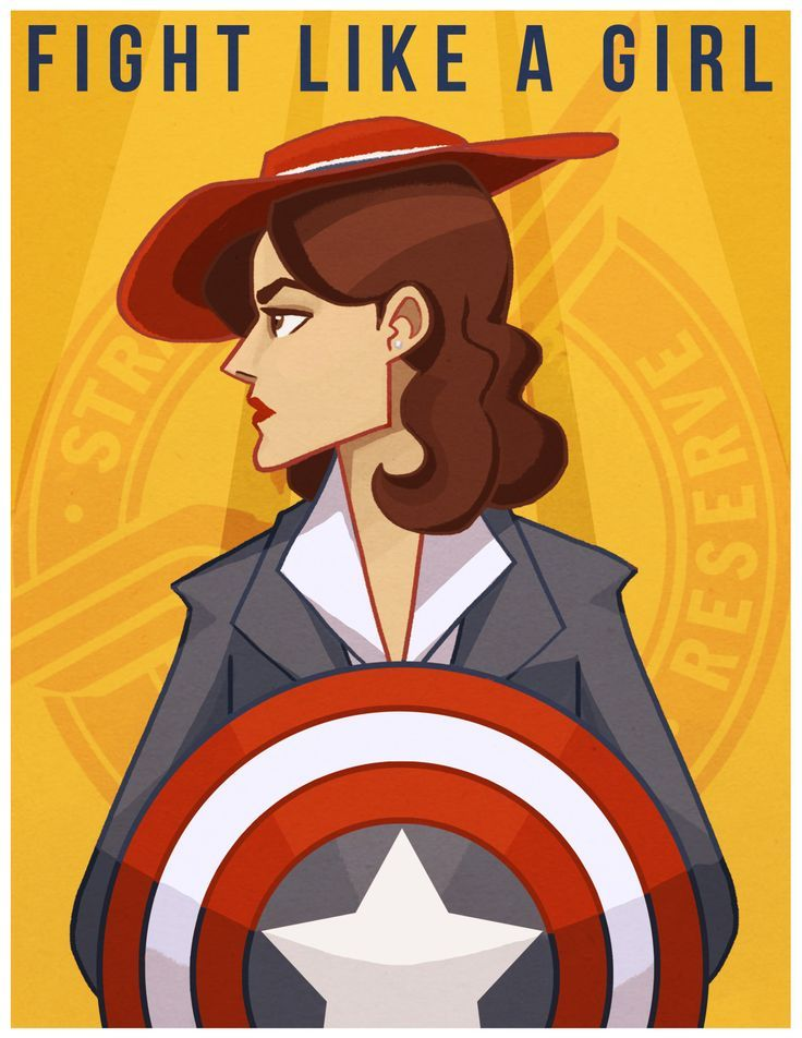 Fight Like a Girl Agent Carter fanart by trimcoast / prints available