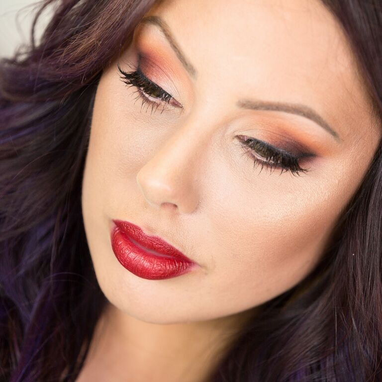 My Thanksgiving Look: Matte Eyes + Duochrome Lips - Makeup Geek