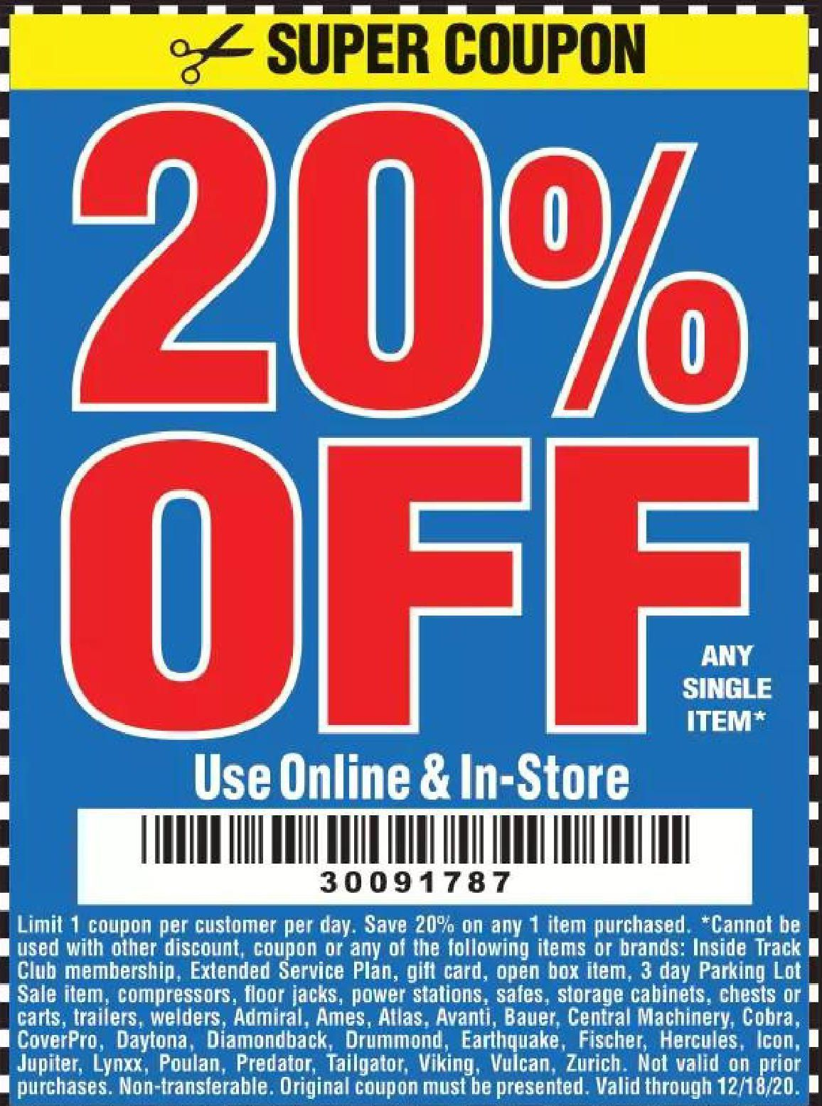 Harbor Freight Tools Coupon Database Free Coupons 25 Percent Off Coupons 20 Percent Off Coupons No Purc Harbor Freight Tools Harbor Freight Coupon Coupons