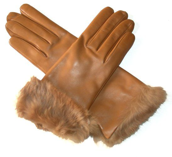 Women's Italian Rabbit Fur Cuff Winter Leather Gloves By Fratelli Orsini | Free USA Shipping at Leather Gloves Online