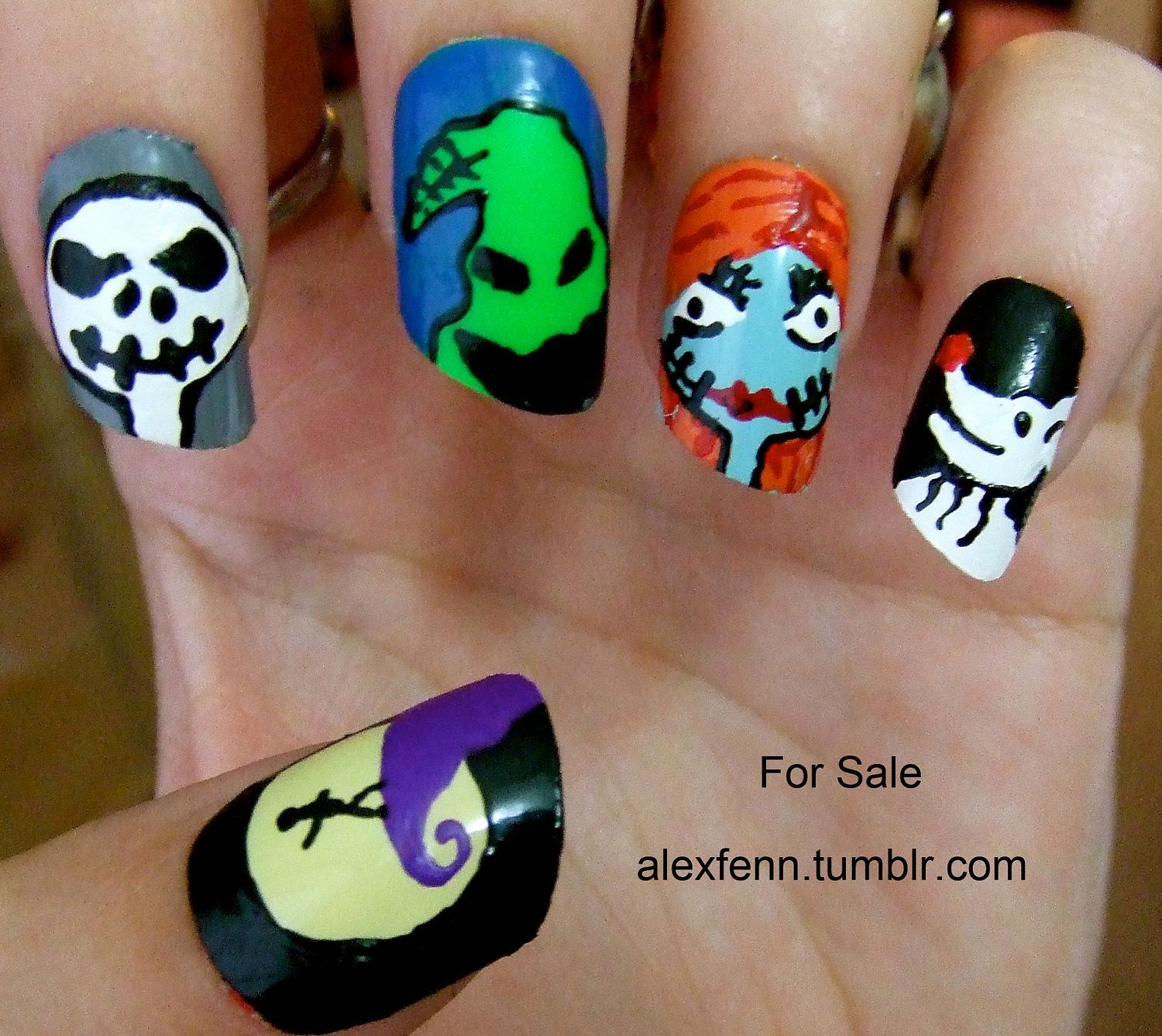 nightmare before christmas nails love nightmare before christmas.. i ...