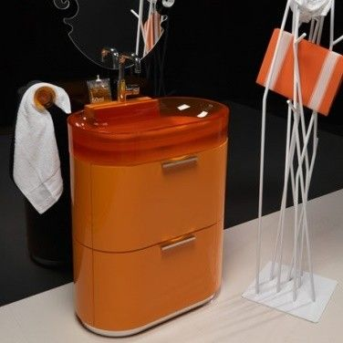 Regia Waschtisch Bilbao Waschbecken Vetroghiaccio rot (53 - moderne badezimmer ideen regia