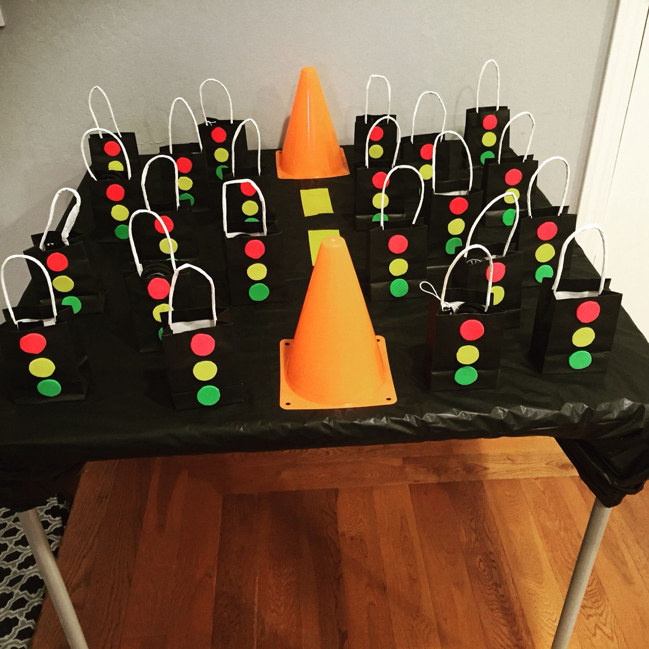 Traffic Light Goodie Bags For Liams Car Themed Birthday