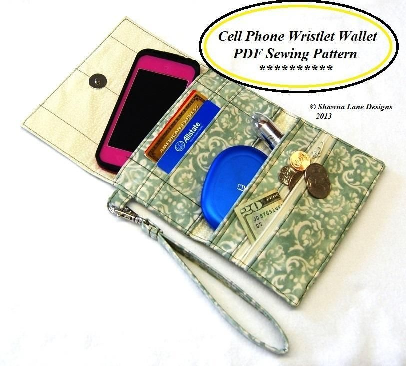 Sewing: Cell Phone Wristlet Wallet Pattern