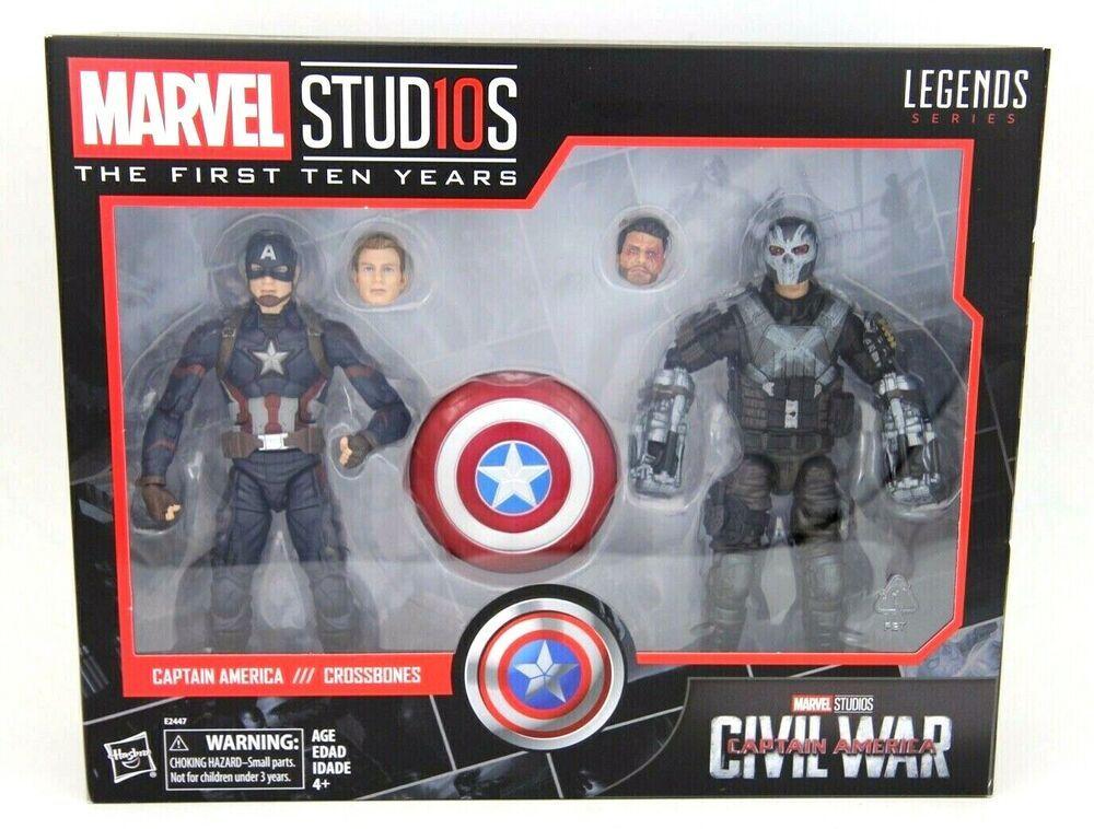 "Marvel Legends Captain America and Crossbones Marvel Studios 10th Anniversary 6/"""