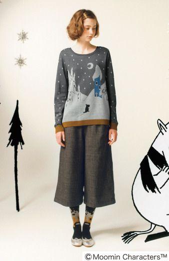 Fashion collection[ファッションコレクション]|ムーミン谷に冬がきた! 前後ろ着られるニットトップスの会|フェリシモ
