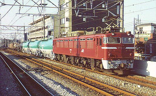 Japan - An EF81-hauled freight train on the Joban line - by Oliver Mayer