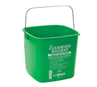 Winco Cleaning Bucket 6 Qt For Soap Solution Green Ppl 6g Schubert Equipment Sales Inc Cleaning Buckets Cleaning Mopping Laminate Floors
